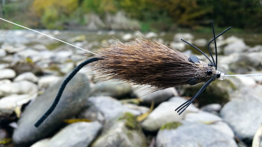 Huchen Mouse tube fly 10 cm (3,9 inch)